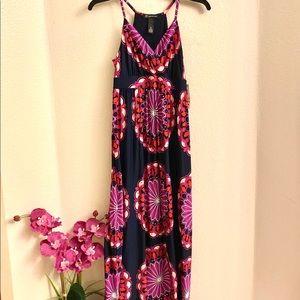 ⛩ INC Long V Neck Summer Dress
